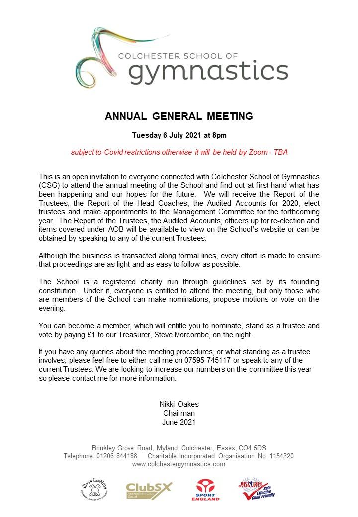 Notice of AGM