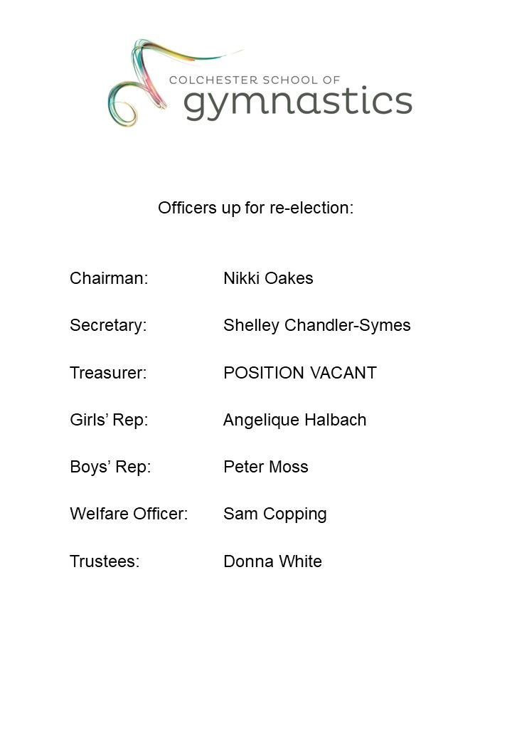 Officers up for re-election