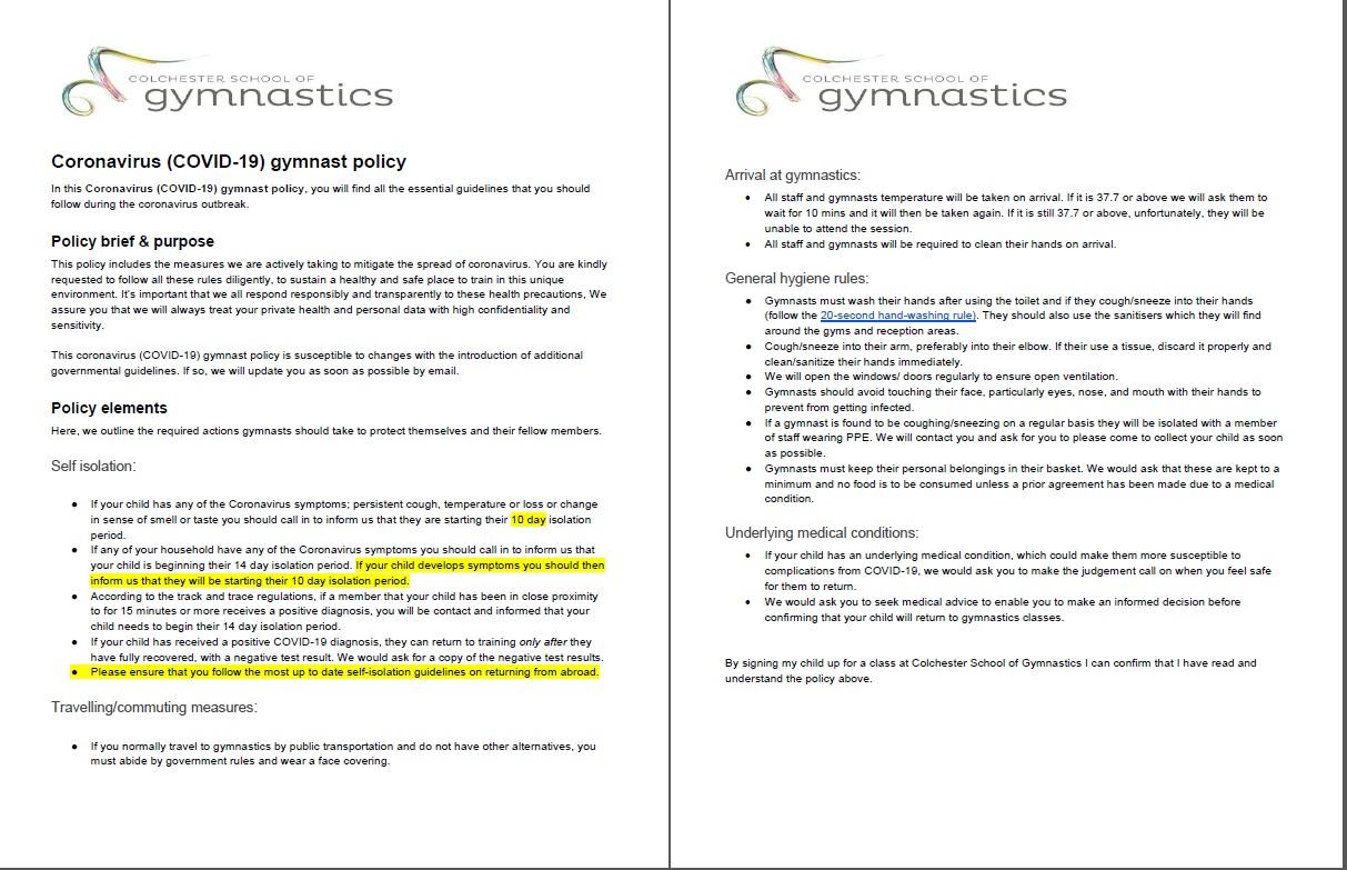 COVID-19- gymnast-policy