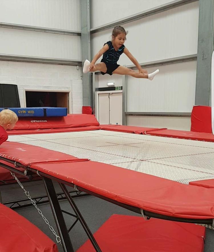 pre school trampoline