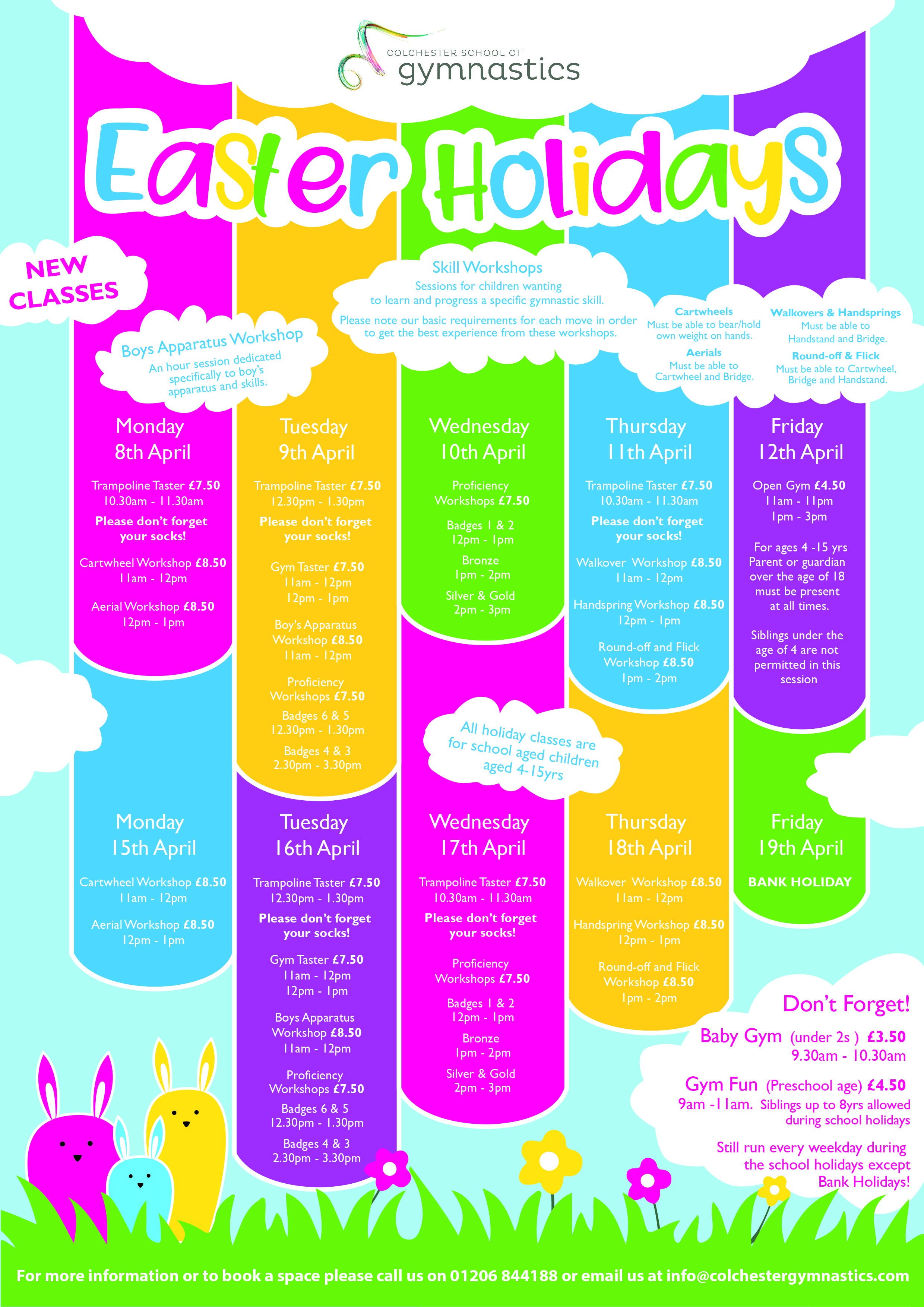 CSG Easter Holiday poster 2019