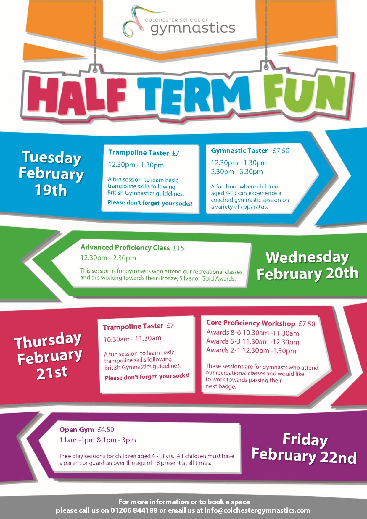 CSG Half Term Programme