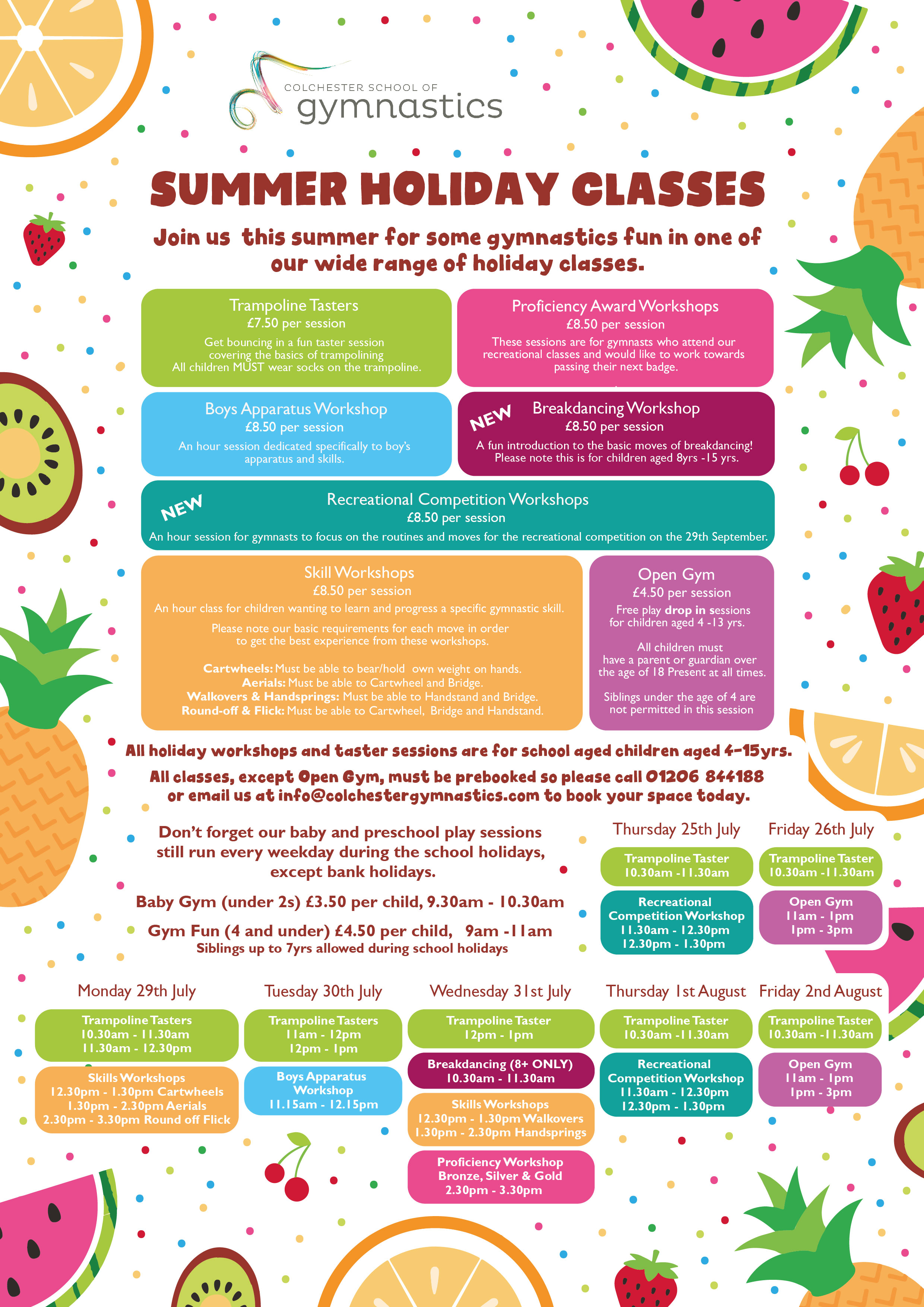 CSG Summer Holiday Poster 2019 Fruit PG 1