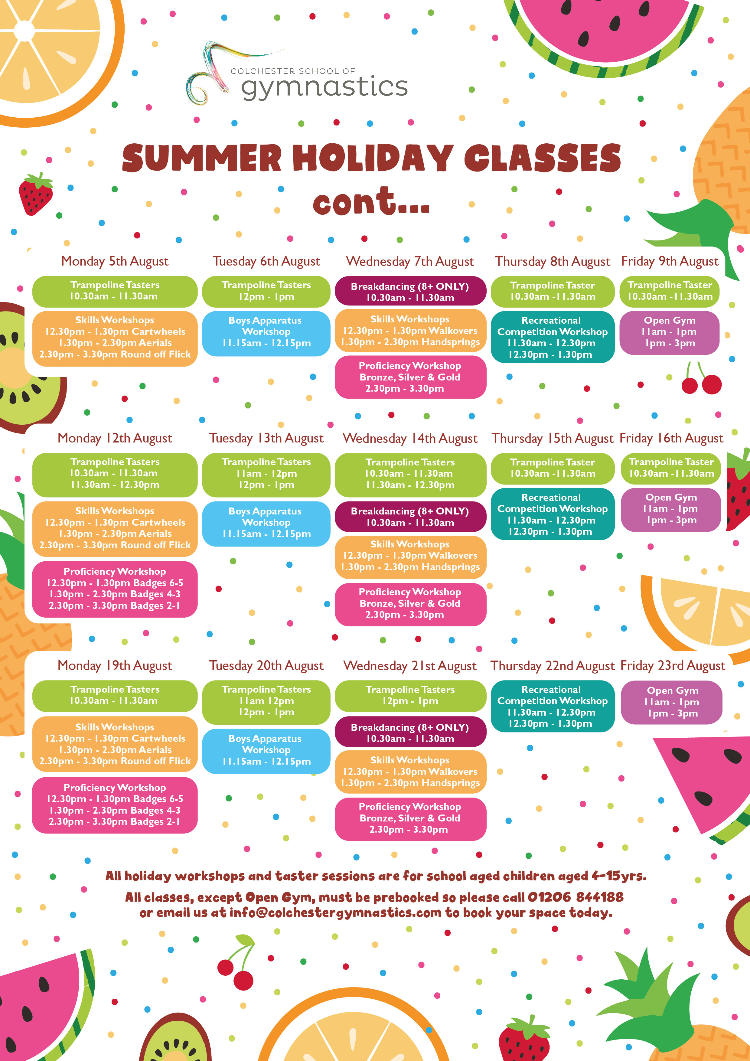 CSG Summer Holiday Poster 2019 Fruit PG 2